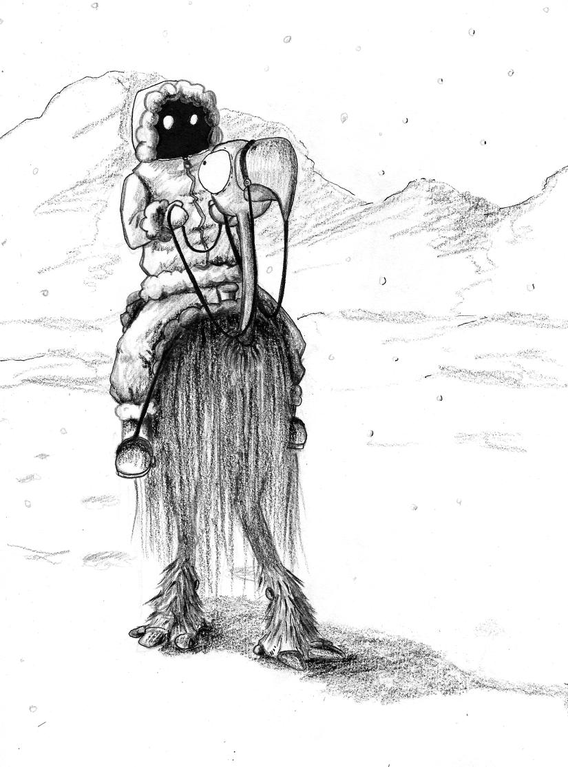 monteur d'autruche des neiges