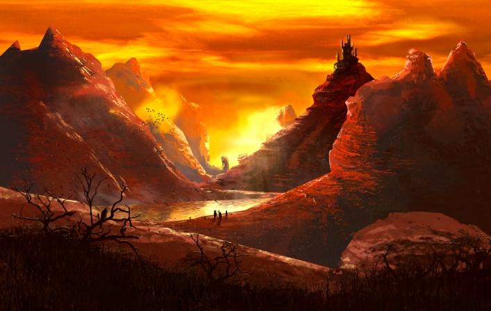 paysage crépuscule final